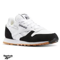 Junior Reebok 'CL Leather SPP' Trainers (AR2544) x2: £11.95